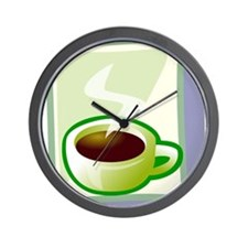 Art Deco Coffee Wall Clock