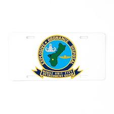 EOD Mobile Unit 5 Guam Aluminum License Plate