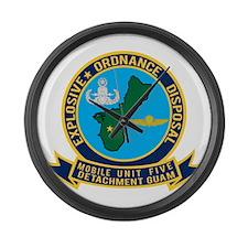 EOD Mobile Unit 5 Guam Large Wall Clock