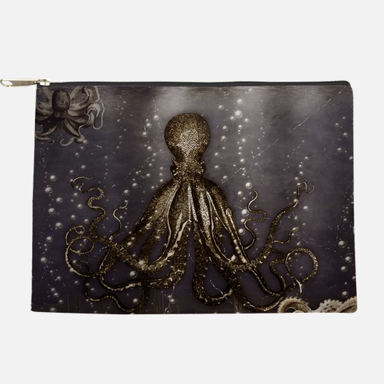 Octopus' lair - Old Photo Makeup Pouch