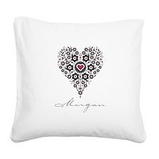 Love Morgan Square Canvas Pillow