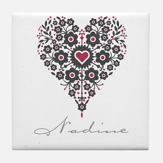 Love Nadine Tile Coaster
