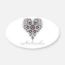 Love Natasha Oval Car Magnet