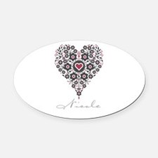 Love Nicole Oval Car Magnet