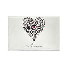 Love Nina Rectangle Magnet