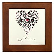 Love Nina Framed Tile