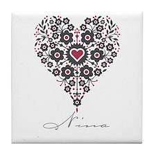 Love Nina Tile Coaster