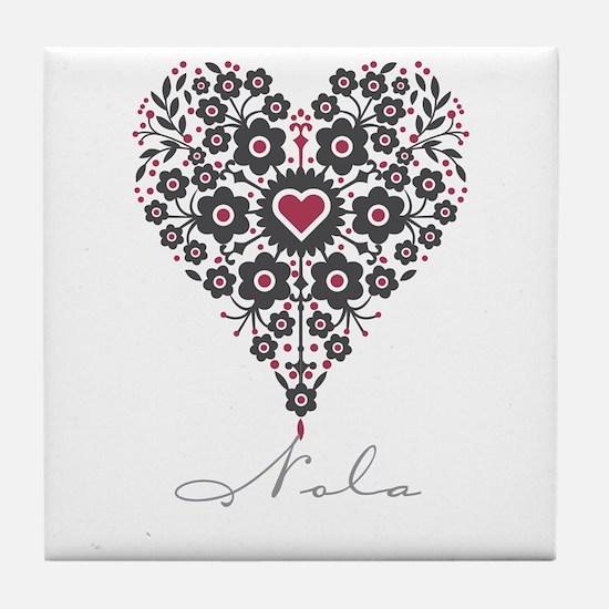 Love Nola Tile Coaster