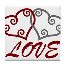 Love Hearts Tile Coaster