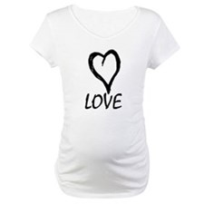 Love Heart Black Shirt
