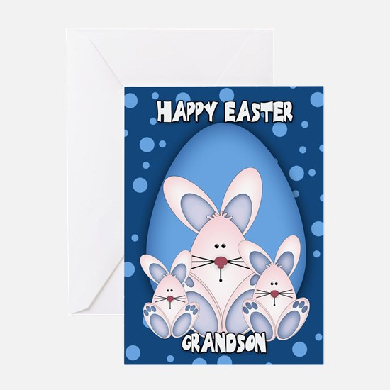 Grandson Easter Bunny Greeting Card