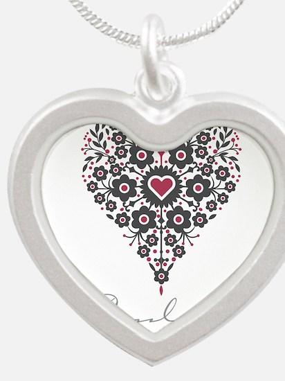 Love Paulette Silver Heart Necklace