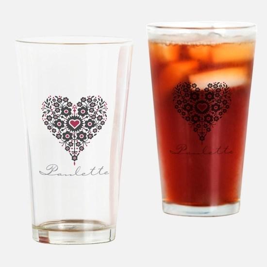 Love Paulette Drinking Glass