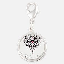Love Priscilla Silver Round Charm