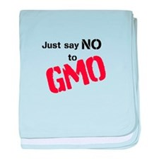 Just say NO to GMO baby blanket