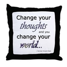 Change Your Thoughts Throw Pillow