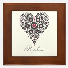Love Reba Framed Tile