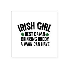 "Irish Girl Square Sticker 3"" x 3"""