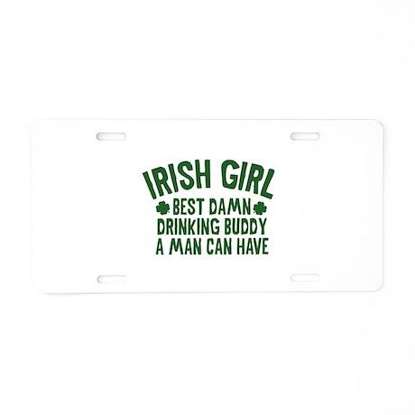 Irish Girl Aluminum License Plate