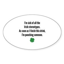 Irish stereotypes Decal