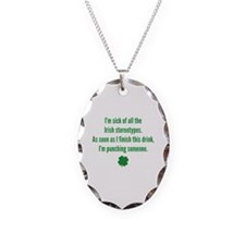 Irish stereotypes Necklace Oval Charm