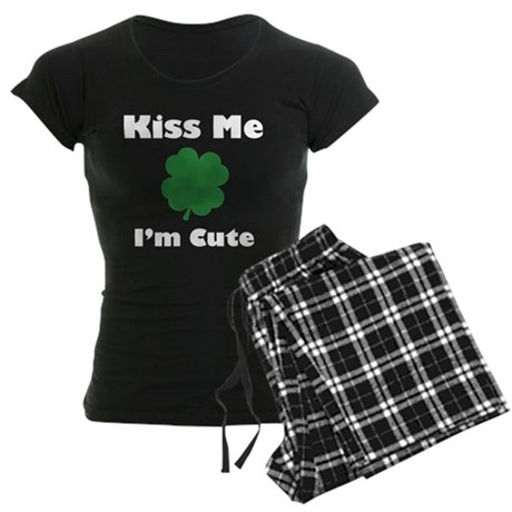 Kiss Me I'm Cute Women's Dark Pajamas