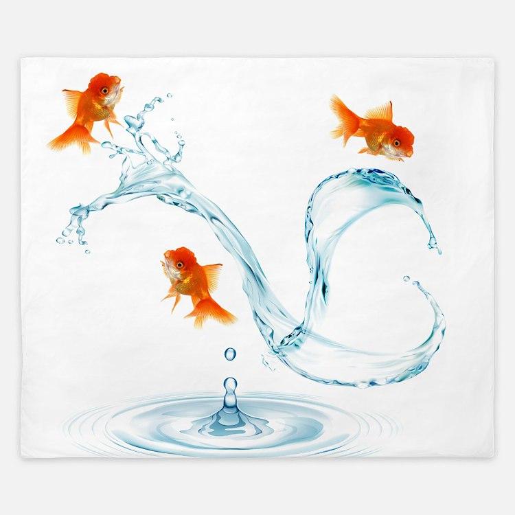Splashing Fish King Duvet