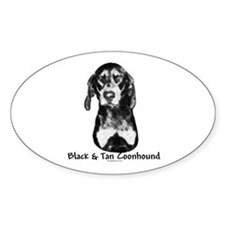 B & T Charcoal Oval Decal