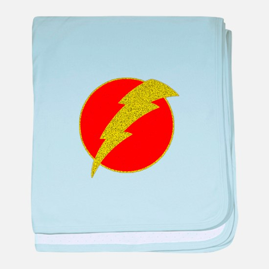 Flash Bolt Superhero baby blanket