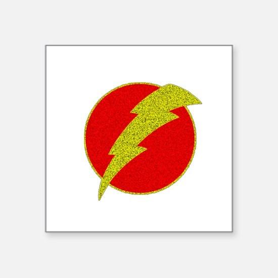 Flash Bolt Superhero Sticker