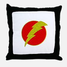 Flash Bolt Superhero Throw Pillow
