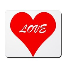 Red Love Heart Mousepad