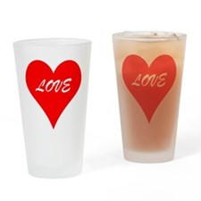 Red Love Heart Drinking Glass