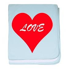 Red Love Heart baby blanket