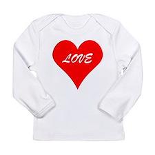 Red Love Heart Long Sleeve T-Shirt
