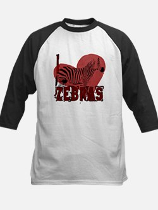 I Love Zebras Baseball Jersey