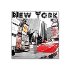 "New York Square Sticker 3"" x 3"""