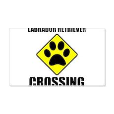 Labrador Retriever Crossing Wall Decal