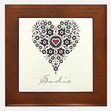 Love Sadie Framed Tile
