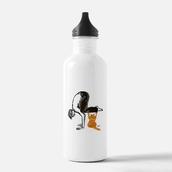 Cute Yoga men Water Bottle