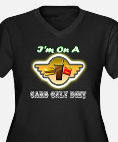 Carb Only Diet Women's Plus Size V-Neck Dark T-Shi