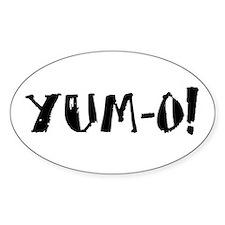 YUM-O! Oval Decal