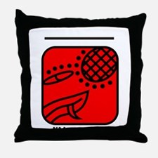 RED Overtone SERPENT Throw Pillow