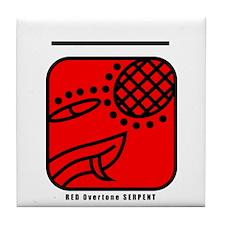 RED Overtone SERPENT Tile Coaster