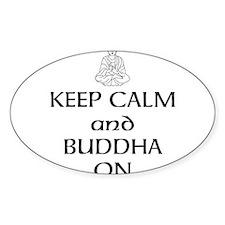 Keep Calm and Buddha On Decal