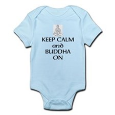 Keep Calm and Buddha On Body Suit