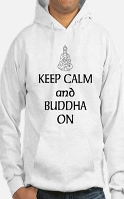 Keep Calm and Buddha On Hoodie