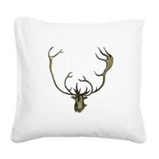 Elk Antlers Square Canvas Pillow
