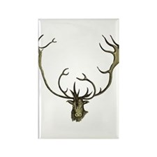 Elk Antlers Rectangle Magnet