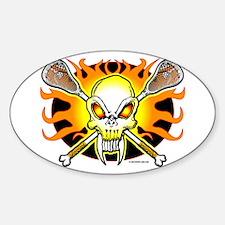Lacrosse Skull & Crossbone Decal